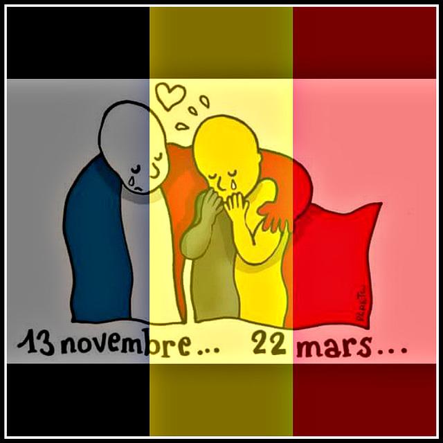 Hommage aux victimes d'attentats ! notre soutien aux peuple Belge en cette triste journée !