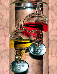 Galilean thermometer.