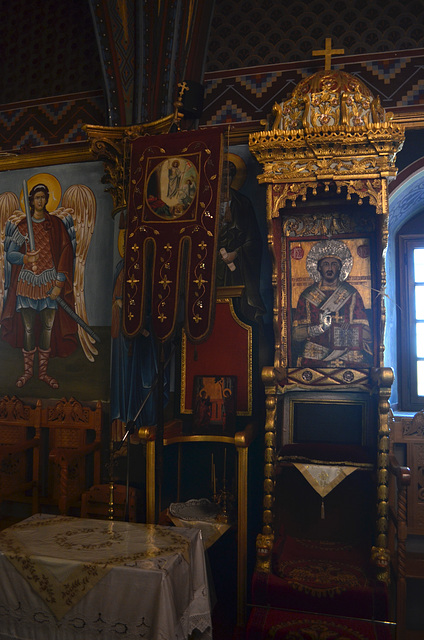 Rhodes, Interior of Aghios Antonios Church in Laerma