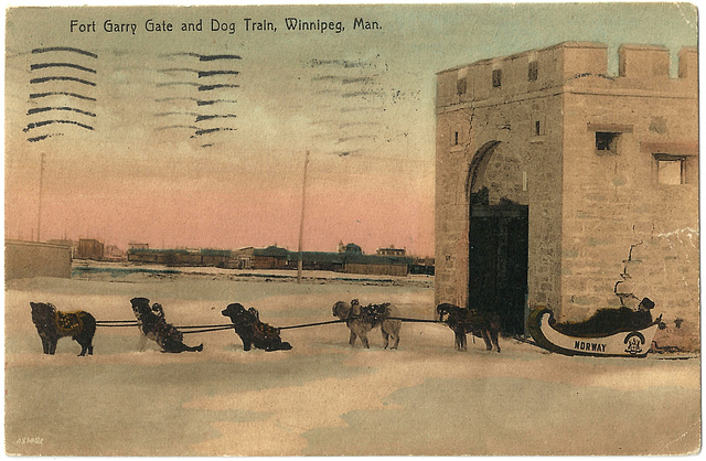 WP2008 WPG - FORT GARRY GATE AND DOG TRAIN
