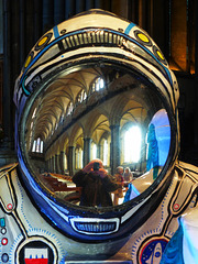 The Astro Baron - with me in the refection plus the cathedral nave.