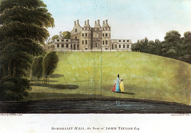 Bordesley Hall Birmingham after attack by rioters in 1791