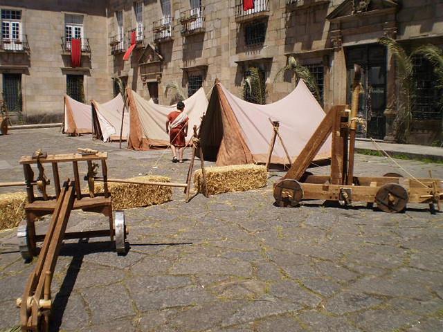 Roman army camp.