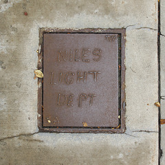 Here was the Niles Light Department, as the pavement began to dry.
