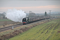 "LMS Coronation Class 8P 4-6-2 no 46233 ""Duchess of Sutherland"" with  ""THE CATHEDRALS EXPRESS"" ~ Dec 1st 2016"