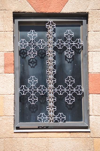 Rhodes, The Window of Aghios Antonios Church in Laerma