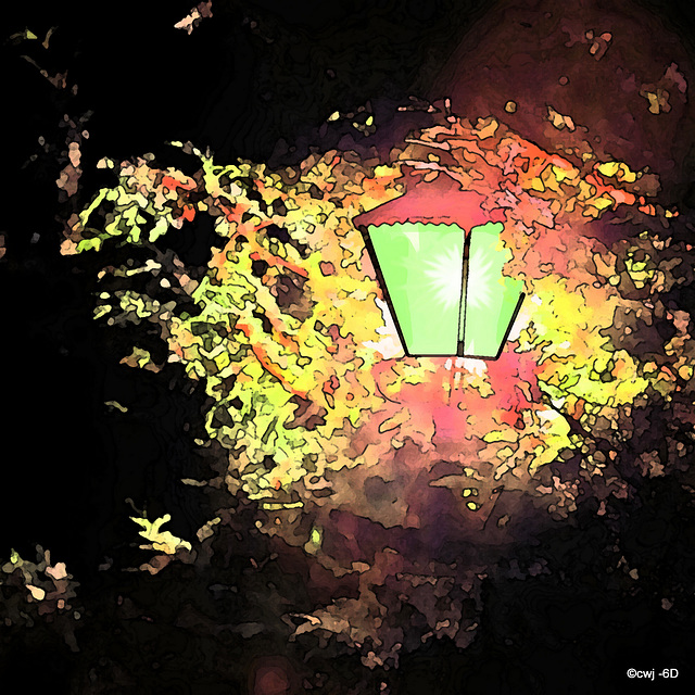 The courtyard lantern...