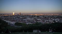 Lyon depuis le jardin des curiosités