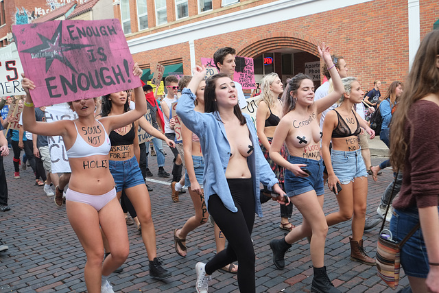 The protest was supposed to make rape less likely