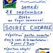Portes ouvertes chorale à Blandy-les-Tours le 28/09/1991