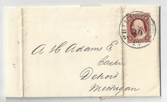 Bank Letter from 1855 (2xPIP)