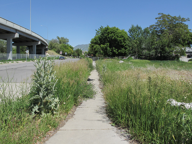 Salt Lake City disappearing sidewalk.