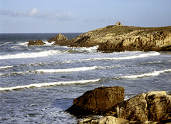 Sonne, Wind und stürmisches Meer