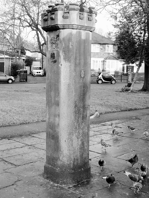 Toll gate post, Park Crescent, Rusholme.