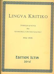 Lingva Kritiko, Kolonjo 1932-1935