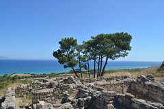 Rhodes, Remains of Ancient Kamiros Overlooking the Aegean Sea