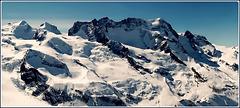 Zermatt : il Monte Rosa visto dalla Svizzera