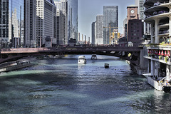 The Dearborn Street Bridge – Viewed from the State Street Bridge, Chicago, Illinois, United States