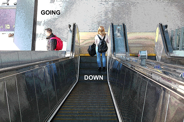 Going down - Reading - 20.4.2015