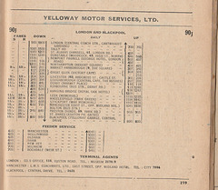 Extract from the 'Roadway Motor Coach Timetable' 1932 (page 189)
