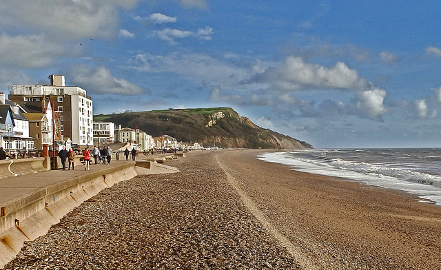 The beach at Seaton.