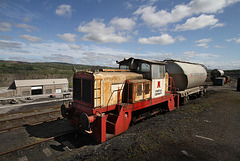 Cement works rail