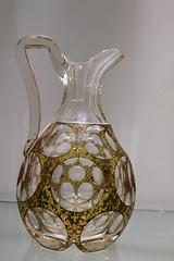 Cut glass pitcher