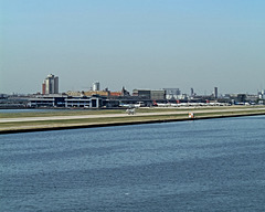 View to airside of London City Airport