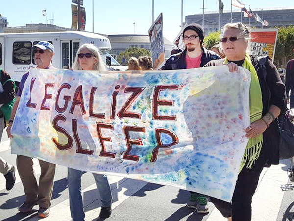 Legalize sleeping; Homeless on the offensive for a new society - Peoples Tribune 2017.11