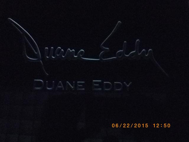 Duane Eddy signature etching