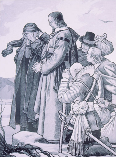 "Felix Jemewein  - desegnaĵo ""Komenský adiaŭas sian patrujon"""