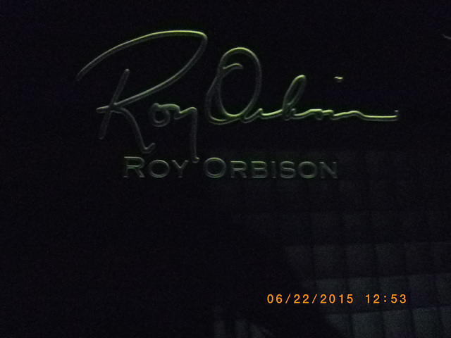 Roy Orbison signature etching