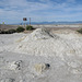 Piled-up mess of dried-out salt mud.