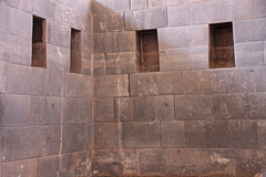 Hand carved interior Incan walls