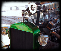 Green Hot road... big engine !
