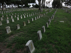 Veteran's Section In Angelus Rosedale Cemetery (1968)