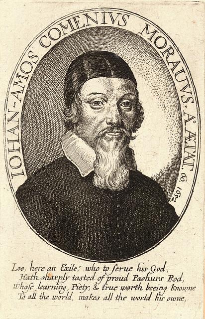Václav Hollar  - portreto de Komenio