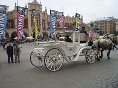 Carriage tour passing by.