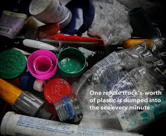 A Sea of Plastic.  It's not a pretty sight