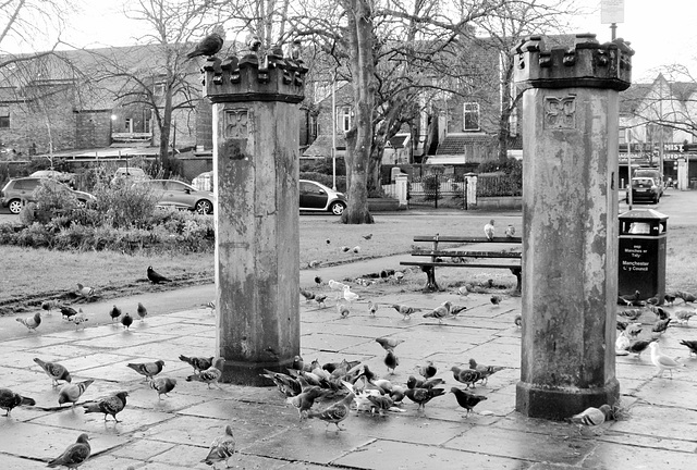 Toll gate posts, Park Crescent, Rusholme.