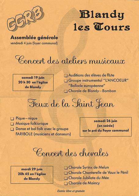 Concert des ateliers de musique du CCRB le 19/06/1994