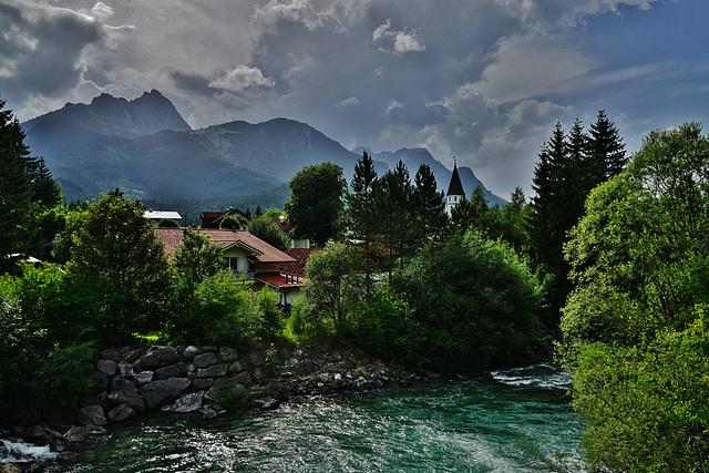 Gewitterstimmung im Lechtal - A stormy atmosphere is lying