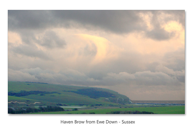 Clouds over Cuckmere Haven - 11.01.2016