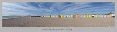 Beach huts sky & shingle Seaford 9 5 2018