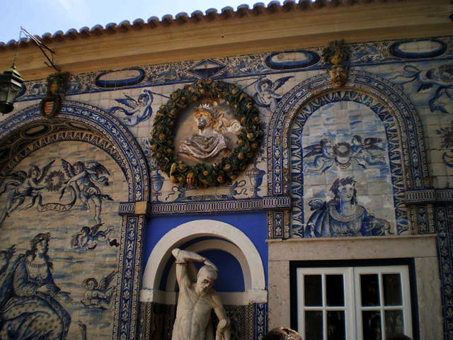 Tiles and sculptures.