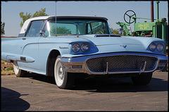 Old blue car ....