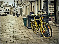 Yellow bicycle :)