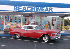 Beachwear & hot rod of yester years