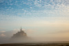 foggy sunrise at Mont Saint Michel