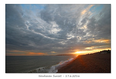 Newhaven sunset - 17.6.2016